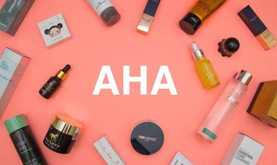 Top 8  sản phẩm AHA tốt nhất có nồng độ từ thấp tới cao